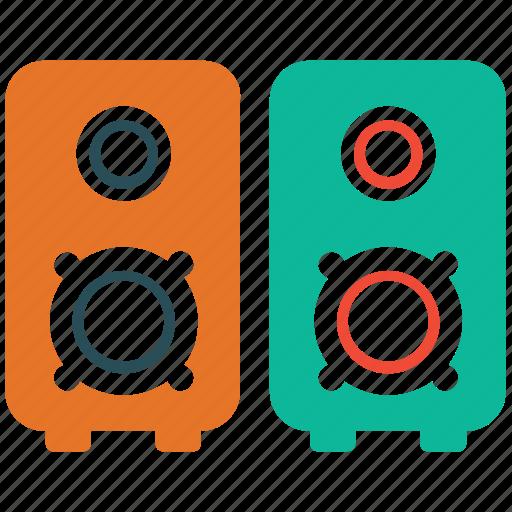 audio equipment, audio speakers, music speaker box, speakers icon