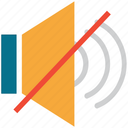 mute, off, silent, speaker, volume icon