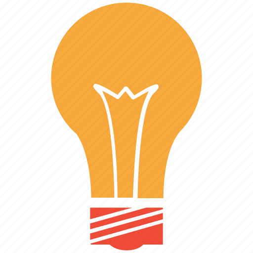 bulb, electricity, light bulb, yellow light bulb icon