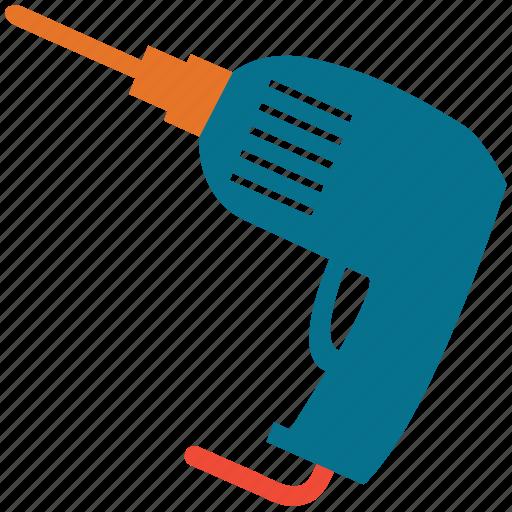 drill, drill machine, drilling machine, power drill icon