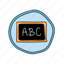 abc, chalkboard, color, elementary, school icon