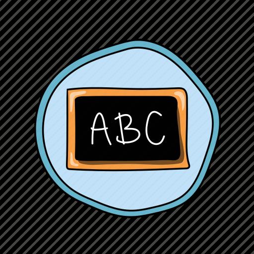 abc, chalkboard, color, elementary, school icon