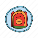 backpack, bag, color, elementary, fashion, school icon