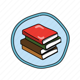 books, color, elementary, library, read, school icon