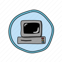 color, computer, elementary, school, technology icon