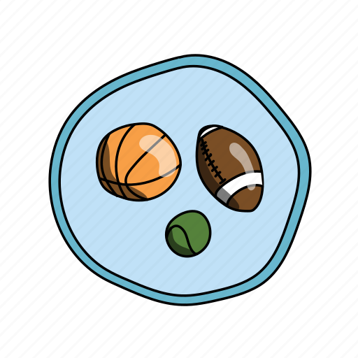 basketball, color, elementary, football, gym, school, sports icon