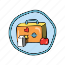 color, elementary, food, lunch, lunchbox, school icon