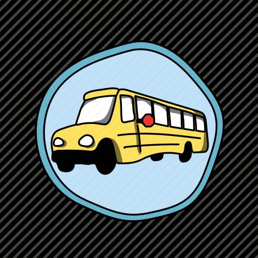 bus, car, color, elementary, school, schoolbus, vehicle icon