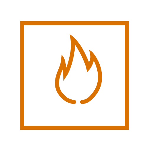 element, fire, square icon