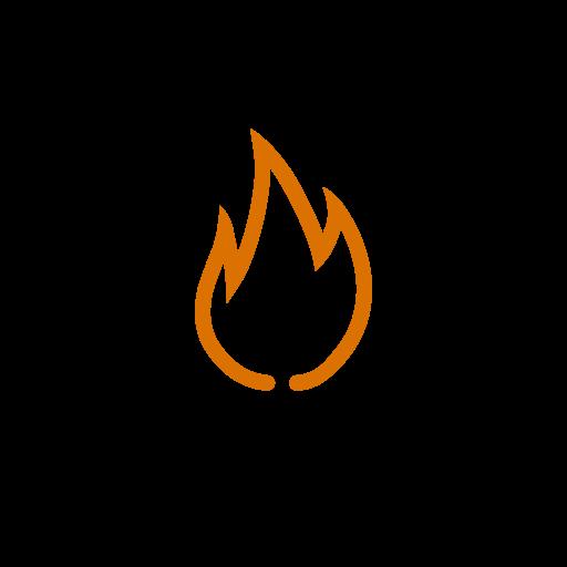 element, fire, orange icon