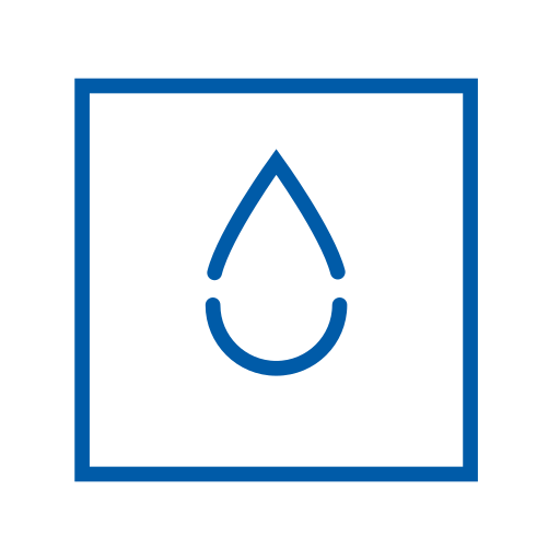 blue, element, square, water icon