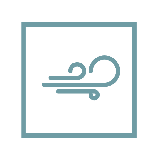element, square, wind icon