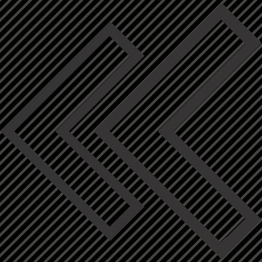 arrow, arrows, geometry, left, previous icon