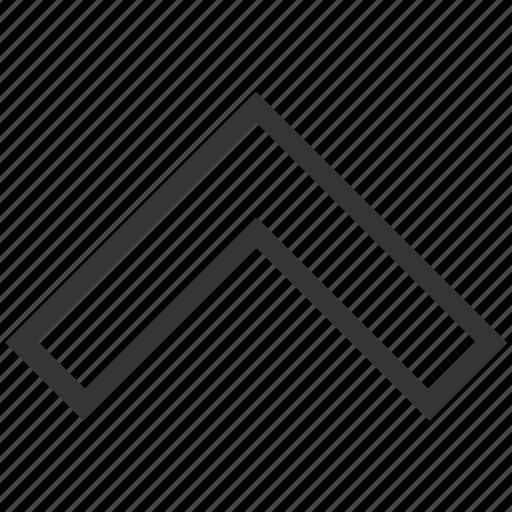 arrow, geometry, up icon