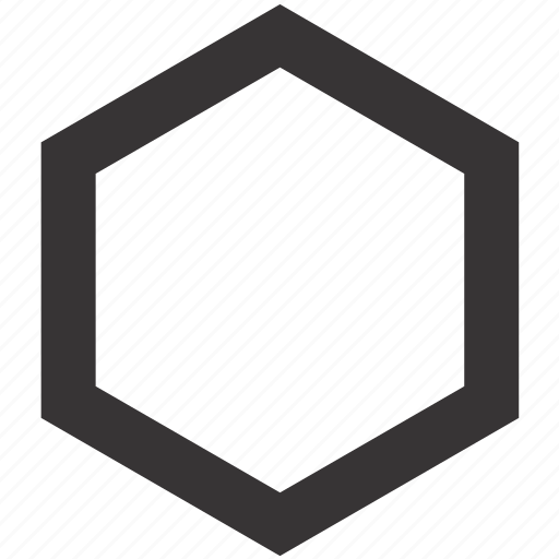 Geometry, hexagon, shape, tool icon - Download on Iconfinder
