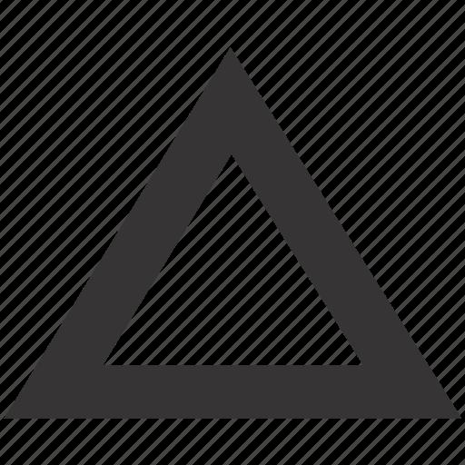 design, geometry, ruler, shape, triangle icon