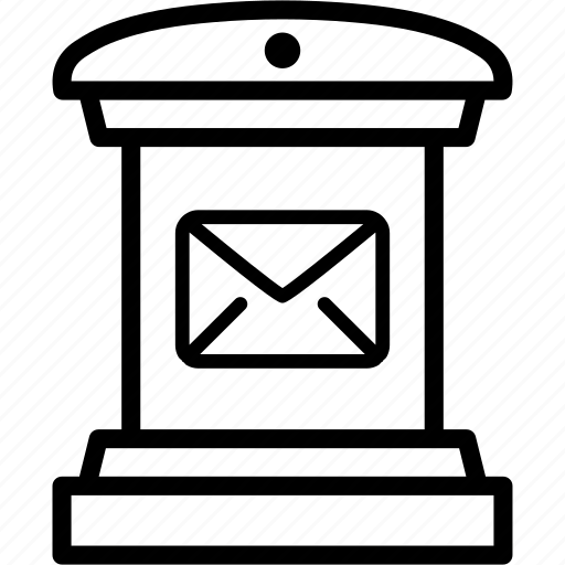 box, envelope, letter, mail, message, post, postman icon