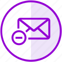email, envelope, inbox, letter, mail, remove