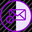 envelope, email, inbox, letter, mail, details, information icon