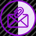 attachment, clip, email, envelope, inbox, letter, mail