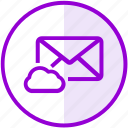 cloud, email, envelope, inbox, letter, mail, storage icon