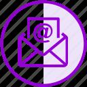 at sign, email, envelope, inbox, letter, mail