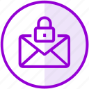 email, envelope, inbox, letter, lock, mail, private