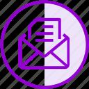 document, email, envelope, inbox, letter, mail