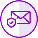 email, envelope, inbox, letter, mail, protection, secure icon
