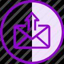 email, envelope, inbox, letter, mail, send, upload
