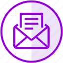 document, email, envelope, inbox, letter, mail icon