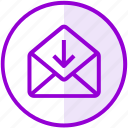 download, email, envelope, inbox, letter, mail icon
