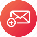 add, email, envelope, inbox, letter, mail, new icon