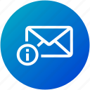 details, email, envelope, inbox, information, letter, mail icon