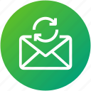 email, envelope, inbox, mail, refresh, sync, update icon