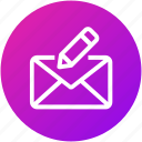 compose, email, envelope, feedback, inbox, letter, mail icon