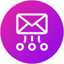 email, envelope, hierarchy, inbox, mail, structure, workflow icon