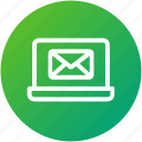 email, envelope, inbox, internet, laptop, letter, mail icon