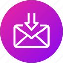 download, email, envelope, inbox, letter, mail, received icon