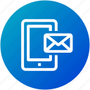 email, envelope, inbox, internet, letter, mail, mobile icon