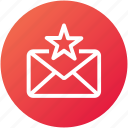 bookmark, email, envelope, inbox, letter, mail, star icon