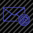 address, at, letter, sign, symbol, mail, envelope, email, message, parcel, close icon