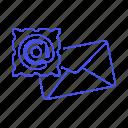 address, at, letter, sign, symbol, close, mail, envelope, email, parcel, stamp, message icon