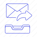 2, action, email, envelope, forward, letter, mail, resend icon