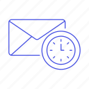 action, email, envelope, letter, mail, program, schedule, timeout icon