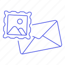 content, email, image, mail, stamp icon