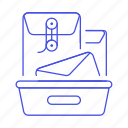 3, document, email, envelope, mailbox, tray icon