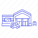 1, building, email, mailbox, office, post, postal, service, truck, usps icon