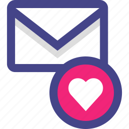 email, envelope, favorite, heart, message, save icon