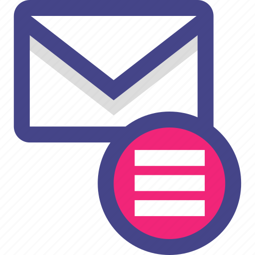 email, envelope, menu, message, options icon